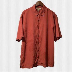 Tommy Bahama Terracotta Silk Camp Shirt S
